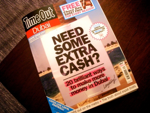 Important thing to do on a Thursday night: buy the new TimeOut Dubai.